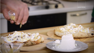 Ricotta, honey and pine nuts pizza video recipe