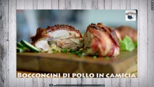 Pancetta-wrapped chicken involtini