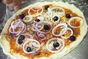Pizzas from Italy: Rianata pizza from Trapani