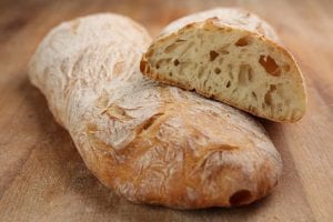 The ciabatta, a tasty italian bread for meals