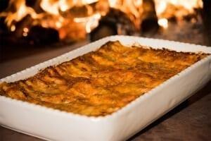 Lasagne au four à bois